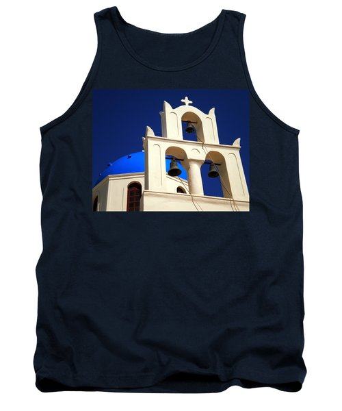 Tank Top featuring the photograph santorini Church Greee by Colette V Hera  Guggenheim