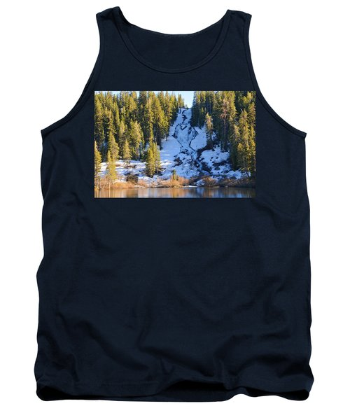 Tank Top featuring the photograph Snowy Heart Falls by Lynn Bauer