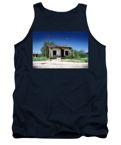 Tank Top featuring the photograph Somewhere On The Old Pecos Highway Number 3 by Lon Casler Bixby