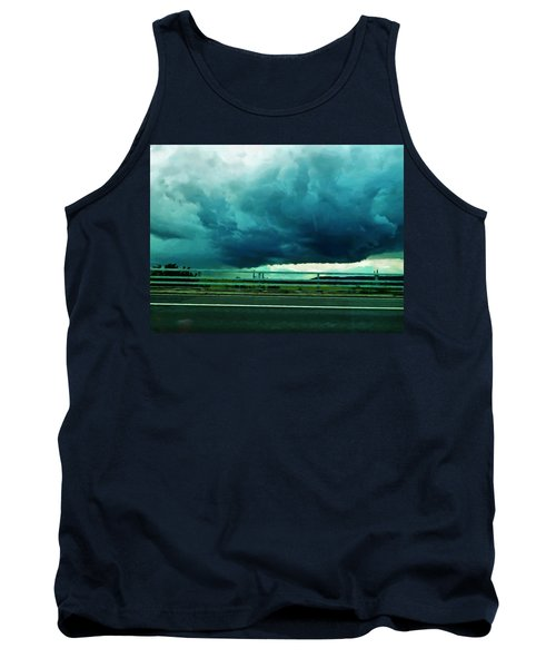 Tank Top featuring the digital art Storm Approaching  by Steve Taylor