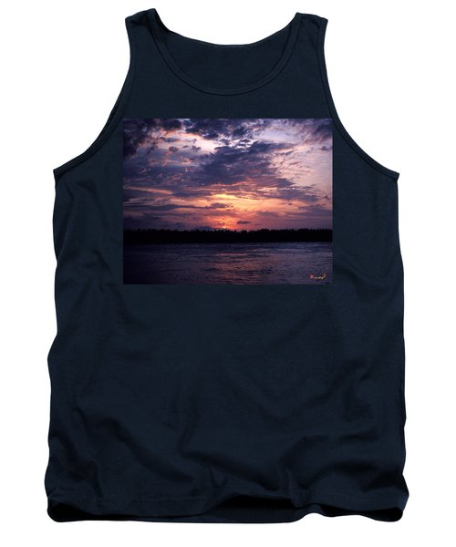 Tank Top featuring the photograph Sunset Off Mallory Square 14s by Gerry Gantt