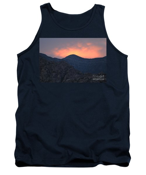 Tank Top featuring the photograph Sunset Over Red Rock by Art Whitton