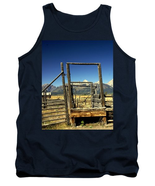 Tank Top featuring the photograph Teton Ranch by Marty Koch