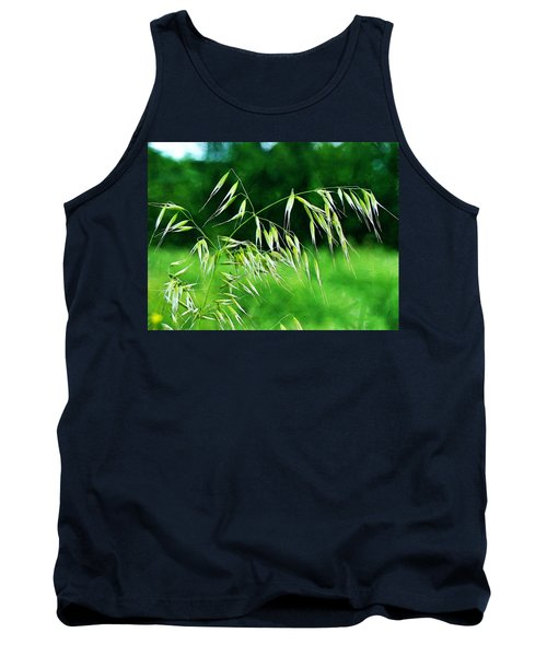 Tank Top featuring the photograph The Grass Seeds by Steve Taylor