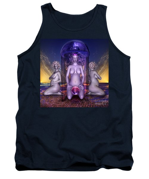 Tank Top featuring the digital art The Shrine Of Life by Rosa Cobos