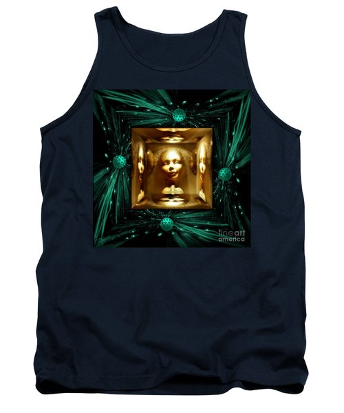 Tank Top featuring the digital art Thoughts Mirror Box by Rosa Cobos