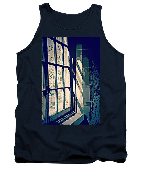 Tank Top featuring the photograph View Through The Window - Painterly Effect by Marilyn Wilson