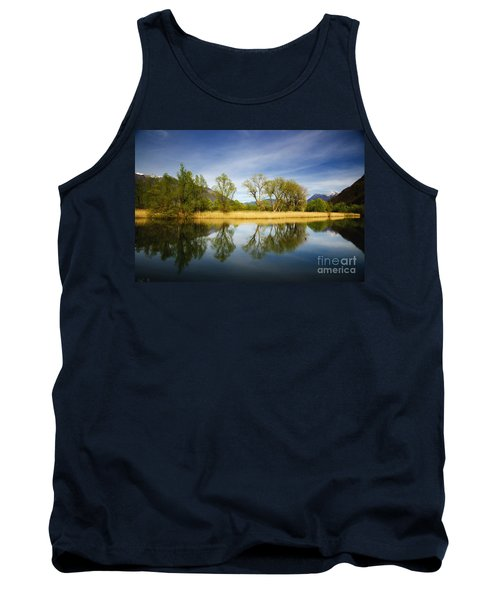 Trees Reflections On The Lake Tank Top