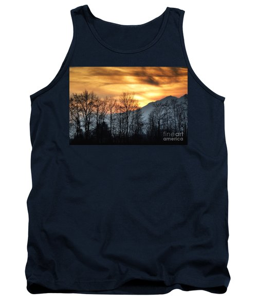 Trees With Orange Sky Tank Top