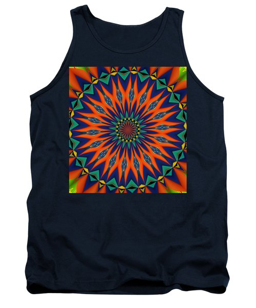 Tank Top featuring the digital art Tropical Punch by Alec Drake