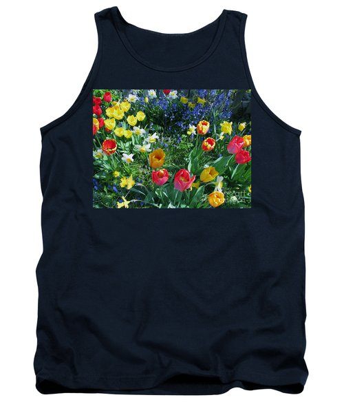 Tank Top featuring the photograph Tulips Dancing by Rory Sagner
