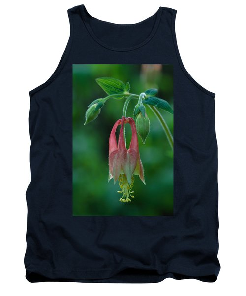 Wild Columbine Flower Tank Top