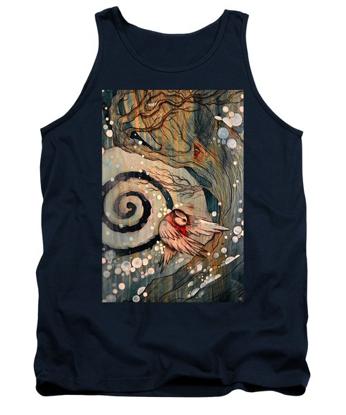Tank Top featuring the painting Winter Becoming by Sandro Ramani
