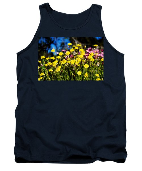 Tank Top featuring the photograph Yellow Flowers by Yew Kwang