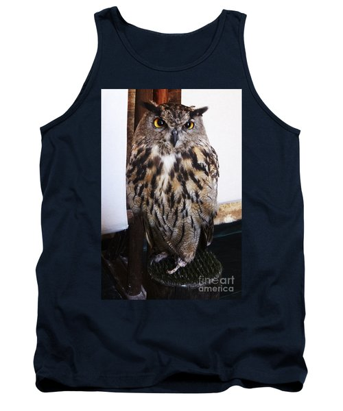 Yellow Owl Eyes Tank Top