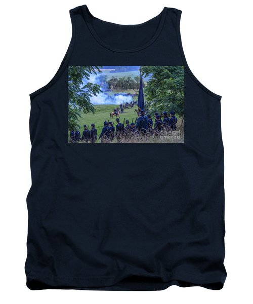 Gettysburg Union Artillery And Infantry 7457c Tank Top