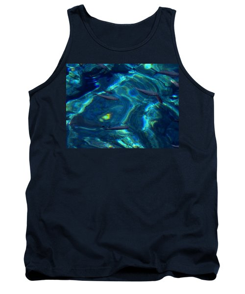 Tank Top featuring the photograph  Santorini  Ocean Water Reflections Greece by Colette V Hera  Guggenheim