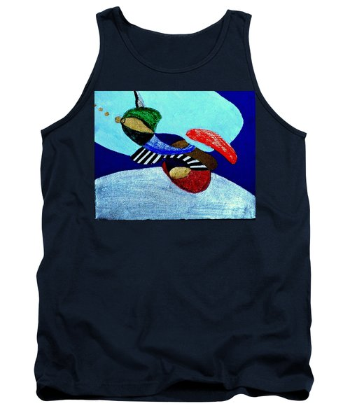 Tank Top featuring the painting Abstract Silver by Rod Ismay