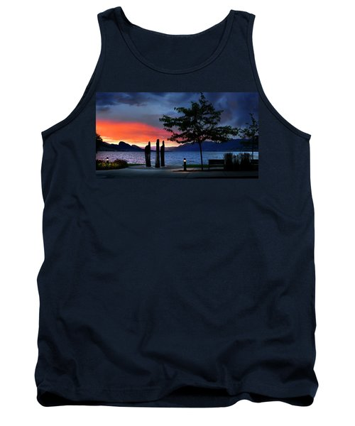 Tank Top featuring the photograph A Sunset Story by John Poon