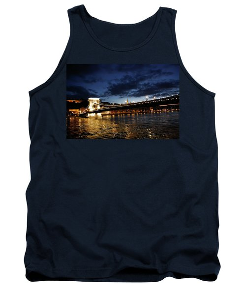 Blue Danube Sunset Budapest Tank Top