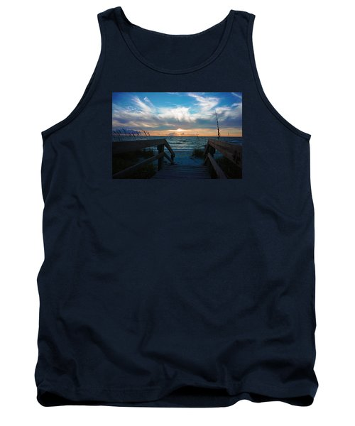 Tank Top featuring the photograph Boardwalk At Delnor-wiggins Pass State Park by Robb Stan