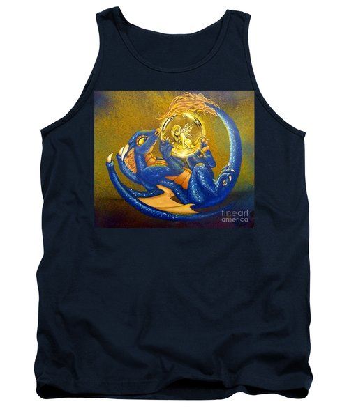 Dragon And Captured Fairy Tank Top