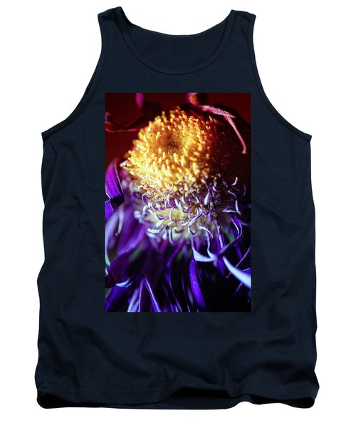 Dying Purple Chrysanthemum Flower Background Tank Top