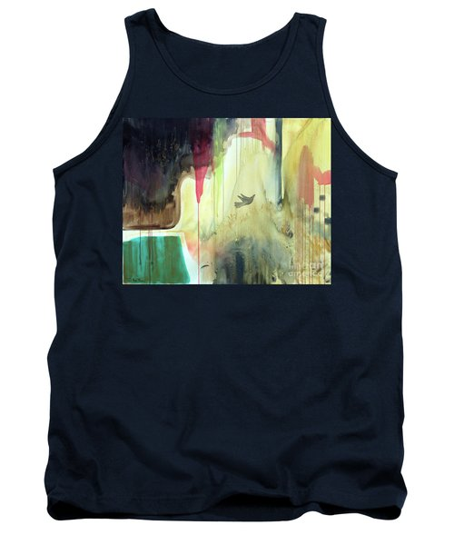 Tank Top featuring the painting Envisage by Robin Maria Pedrero