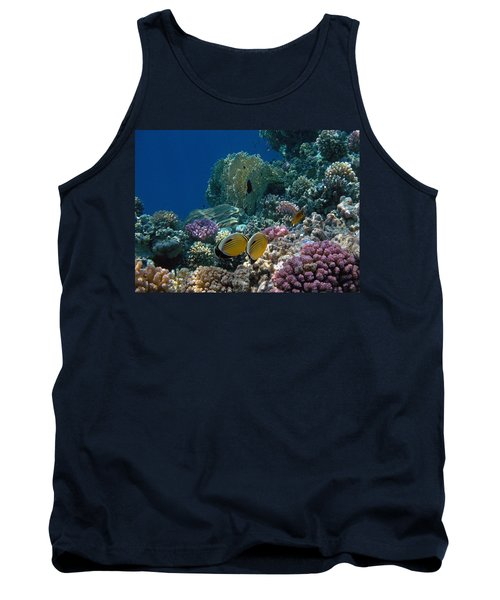 Exquisite Butterflyfish In The Red Sea Tank Top