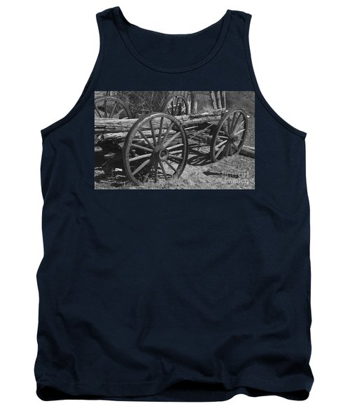 Tank Top featuring the photograph  Junk Pile by Debby Pueschel