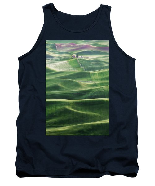 Land Waves Tank Top by Ryan Manuel
