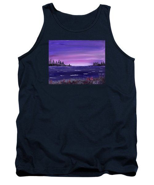 Lavender Sunrise Tank Top by Jack G Brauer