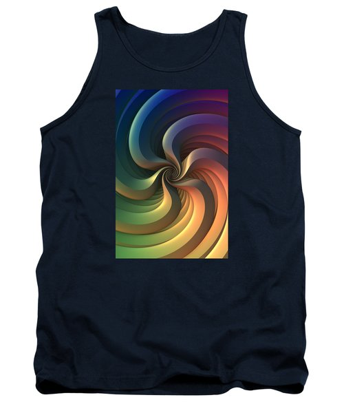 Tank Top featuring the digital art Maelstrom by Lyle Hatch