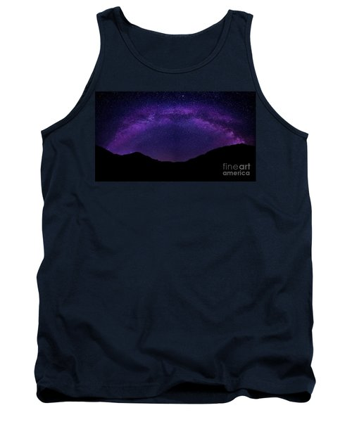 Tank Top featuring the photograph milky way above the Alps by Hannes Cmarits