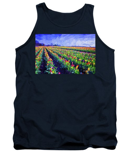 Painted Tulips Tank Top