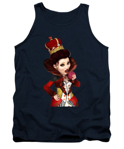 Queen Of Hearts Portrait Tank Top
