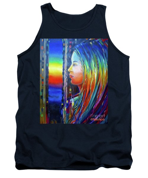 Rainbow Girl 241008 Tank Top by Selena Boron
