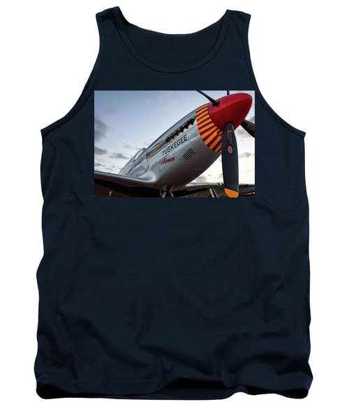 Red Tail At Dusk - 2017 Christopher Buff, Www.aviationbuff.com Tank Top
