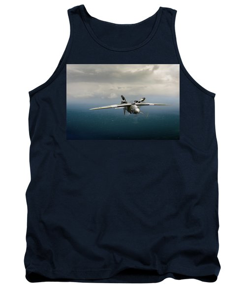 Tank Top featuring the photograph Spitfire Pr Xix Ps915 Inverted by Gary Eason