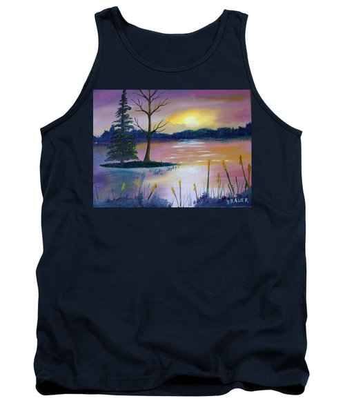 Stormy Sunset Tank Top by Jack G Brauer