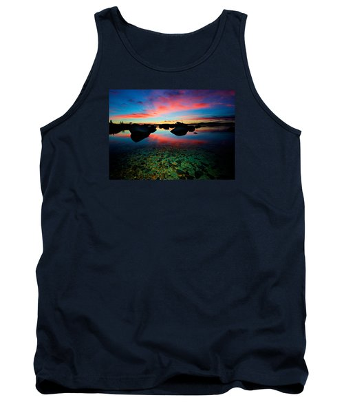Sunset With A Whale Tank Top by Sean Sarsfield