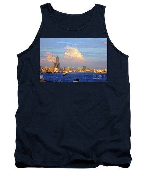Tank Top featuring the photograph View Of Kaohsiung City At Sunset Time by Yali Shi