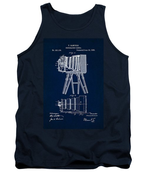 1885 Camera Us Patent Invention Drawing - Dark Blue Tank Top