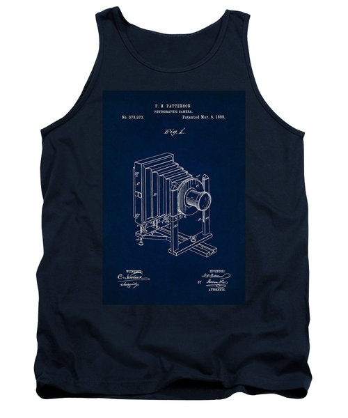 1888 Camera Us Patent Invention Drawing - Dark Blue Tank Top