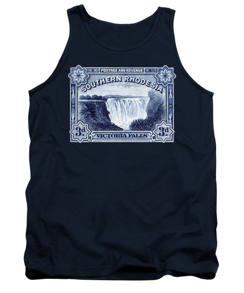 1932 Southern Rhodesia Victoria Falls Stamp Tank Top