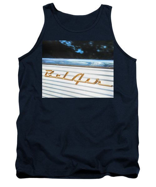 Tank Top featuring the photograph 1957 Chevrolet Bel Air by Theresa Tahara