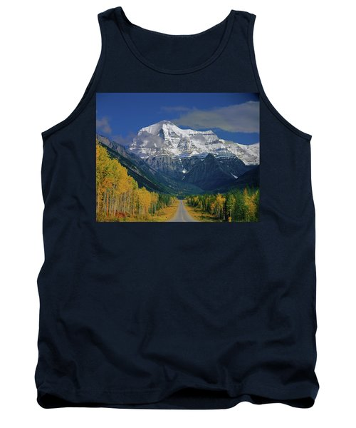 1m2441-h Mt. Robson And Yellowhead Highway H Tank Top