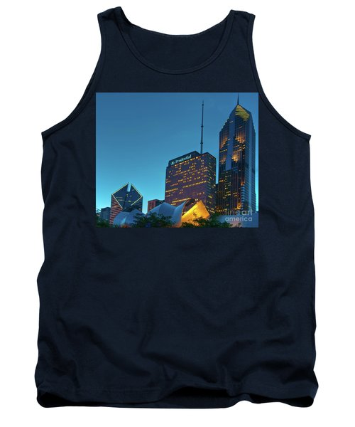 A View From Millenium Park At Dusk Tank Top