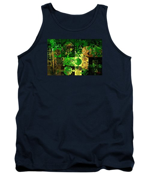 Tank Top featuring the digital art Abstract Painting - Dell by Vitaliy Gladkiy