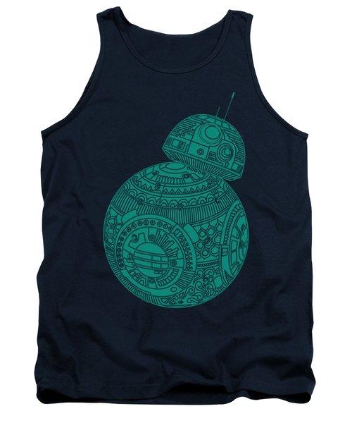 Bb8 Droid - Star Wars Art, Blue Tank Top